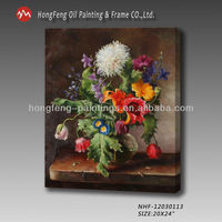 Hot sale handmade painted pictures of flowers oil painting