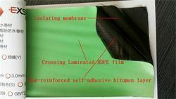 bitumen tape / self adhesive waterproof bitumen / hdpe membrane / self adhesive aluminium foil tape / asphalt adhesive tape