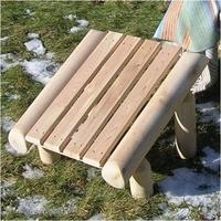Rustic Natural Cedar Furniture Log Ottoman