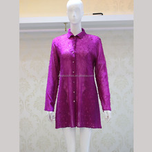 Fashion silk blouses for women ladies long sleeve silk blouse
