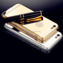 Hot Sales!Luxury Mirror Electroplating Soft Clear Tpu Phone Cases for iphone 5 5s 6 6plusTop quality low price
