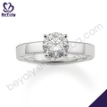 prata jóias 14k diamante anéis por atacado
