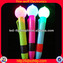 China Shenzhen promotional led pen for sales manufacture/Festival led light up pen supplier/led ball pen