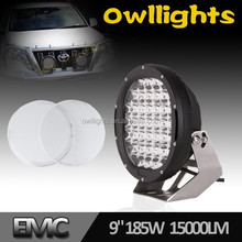 "9"" LED Driving Light! Super Bright 12V 24V 96W 111W 185Watt LED Light 9 inch Flood Spot LED Driving Light for SUV JEEP ATV 4X4"