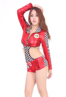 Sexy Fast and Fun Race Car Driver Suits Costume Racing Uniform Jumpsuit dress QAWC-2176