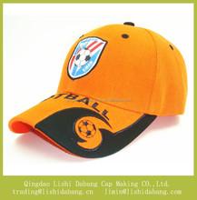 applique logo embroider children cap gold color baseball cap boy cap