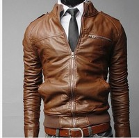 In wholesale High Quality Mens Leather Jacket For Men With New Arrival Fancy Winter Jacket Leather