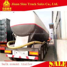 tri axle carbon steel material semi-trailer type 60 tons Cement Bulker Trailer with leaf spring suspension