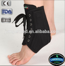 AN-201 Samderson Black canvas lace up soccer ankle brace