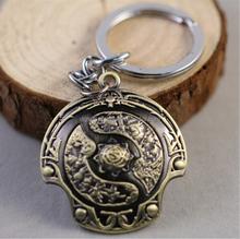 DOTA2 Game Shield Key Chain Ring Men Jewelry Kids Christmas Gifts Car Keyring
