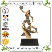 factory custom-made handmade carved fashion polyresin Female Basketball