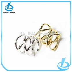 Yiwu supplier plain alloy chunky ring, finger fashion jewelry big rings