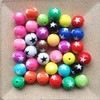 Mixed colors 12mm/16mm/20mm loose resin bubblegum chunky round beads solid star gumball beads!!