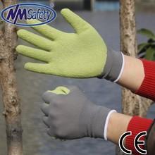 NMSAFETY 13 guage rubber garden gloves