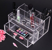 Wholesale counter top acrylic makeup organizer / cosmetic lipstick and brush holder