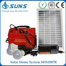 Hot selling red 2kw solar kit with solar panel and DC radio