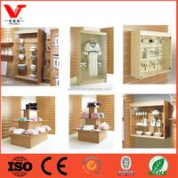 China wholesale websites garment store wooden clothing display shelf