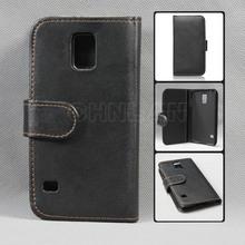 2014 atacado Moblie acessórios do telefone para Samsung galaxy s5 venda quente caso carteira de couro com 2 slots