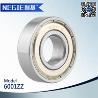 China supplier Cixi Negie factory manufacturer high speed precision 2015 new products motorcycle engine bearing 6001