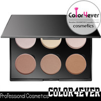 Cosmetics company manufacturers private label mineral 6 color contour palette