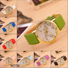 Popular fashion hot sale around the word map print watches