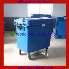 Recycling Outdoor Square Large Plastic Waste Container 1100