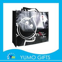 shining glossy lamination non woven tote shopping bag