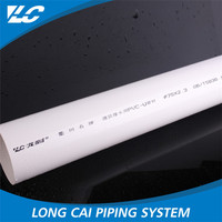 First rate factory price white smoothly pvc pipe water price