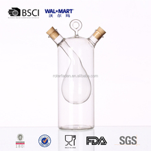 oil and vinegar 2 in 1 glass storage bottle for promotion