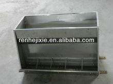 Double side feed trough