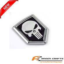 Skull Auto Emblems with Chrome Plating