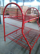 Fashion style and strong colorful metal material bunk beds