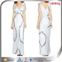 dresses for women muslim printed v neck cocktail dresses evening korean fashion summer long dress