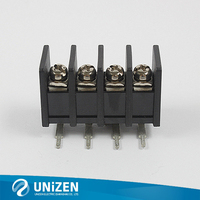 Screw Connector Electric Lead Free RoHS Tend Pin Brass M4 Black 9.525mm Pitch Terminal Connector
