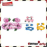 Beautiful Popular Wholesale Plastic Flower Lei