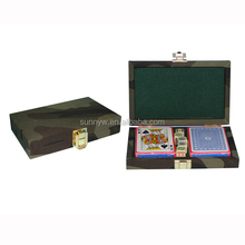 leather poker gift box