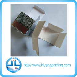 customized slivery paper cosmetic box, fluted paper inside