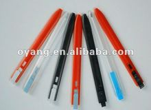 Flat plastic ball pen