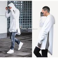 British Style Men Hoodies Hip Hop Streetwear Long Zipper Arc Cut Extended Sweatshirts Tyga Sportswear Bape Kanye West Clothing
