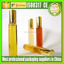 amber glass roll on bottle with golden cap perfume bottles roller ball