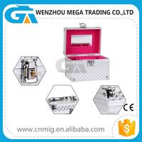 Wholesale Portable Aluminum Exquisite Jewelry Makeup Packaging Box