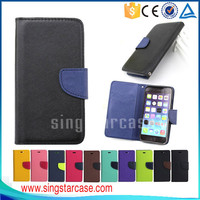 China Manufacturer Wallet Leather Mobile Phone Case Cover for iPhone 6
