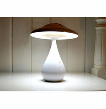Blutooth speaker led mushroom table lamp with usb charger and dimmer adjustable