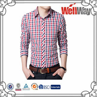 2015 High quality cheap wholesale micro plaids men cotton casual printing shirts