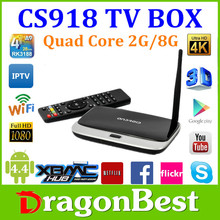 Hot sell CS918 arabic iptv box watch live tv channels, android arabic iptv box network hd iptv