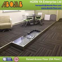OA network anti corrosion/anti abrasion/anti vibration raised access flooring panel system for modern house design