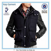 OEM outdoor casual suit black young men fashion leather jacket