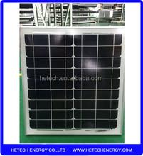 Monocrystalline portable solar panel 25w with competitive price