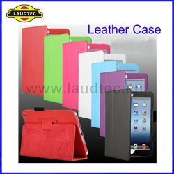 Belt Clip Leather Stand Case for ipad mini,Wallet Case for mini ipad,With Sleep and Wake Function--Laudtec