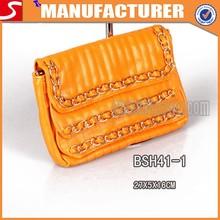 brillante patentes hechas a mano del bolso de mano señora bolsa de mano